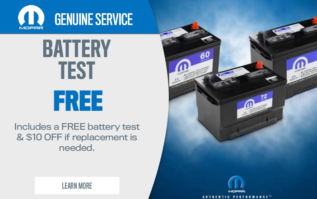 CDJR Battery Test Service Special Coupon