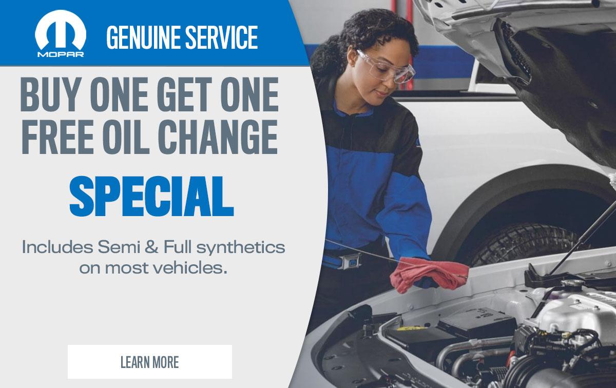 CDJR BOGO Oil Changes Service Special Coupon