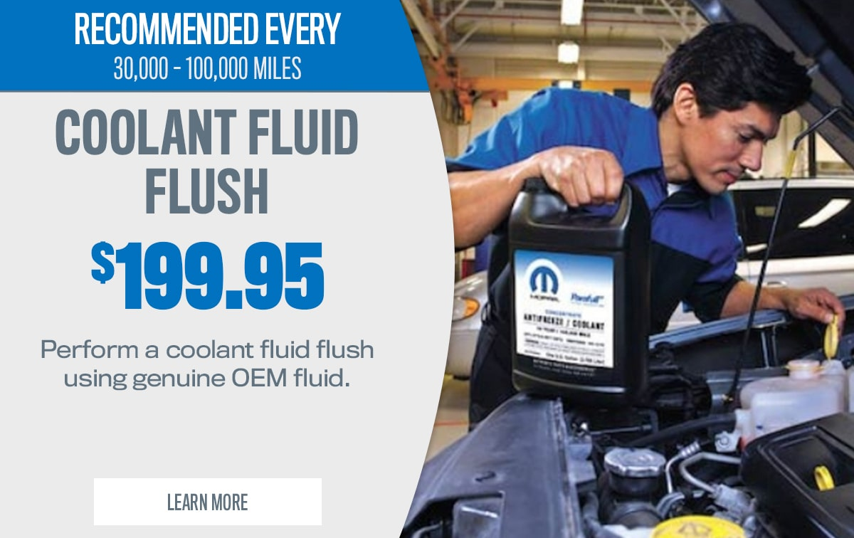 CDJR Coolant Fluid Exchange Service Special Coupon