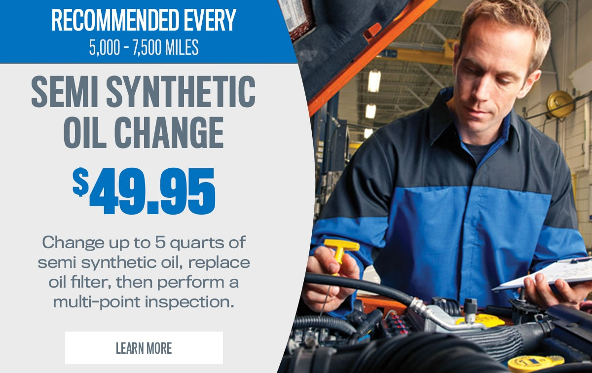 CDJR Semi Synthetic Oil Change Service Special Coupon