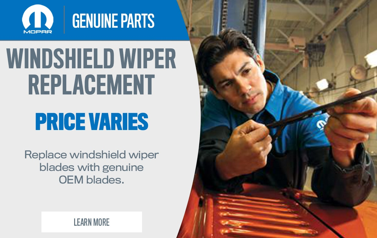 CDJR Windshield Wiper Replacement Service Special Coupon