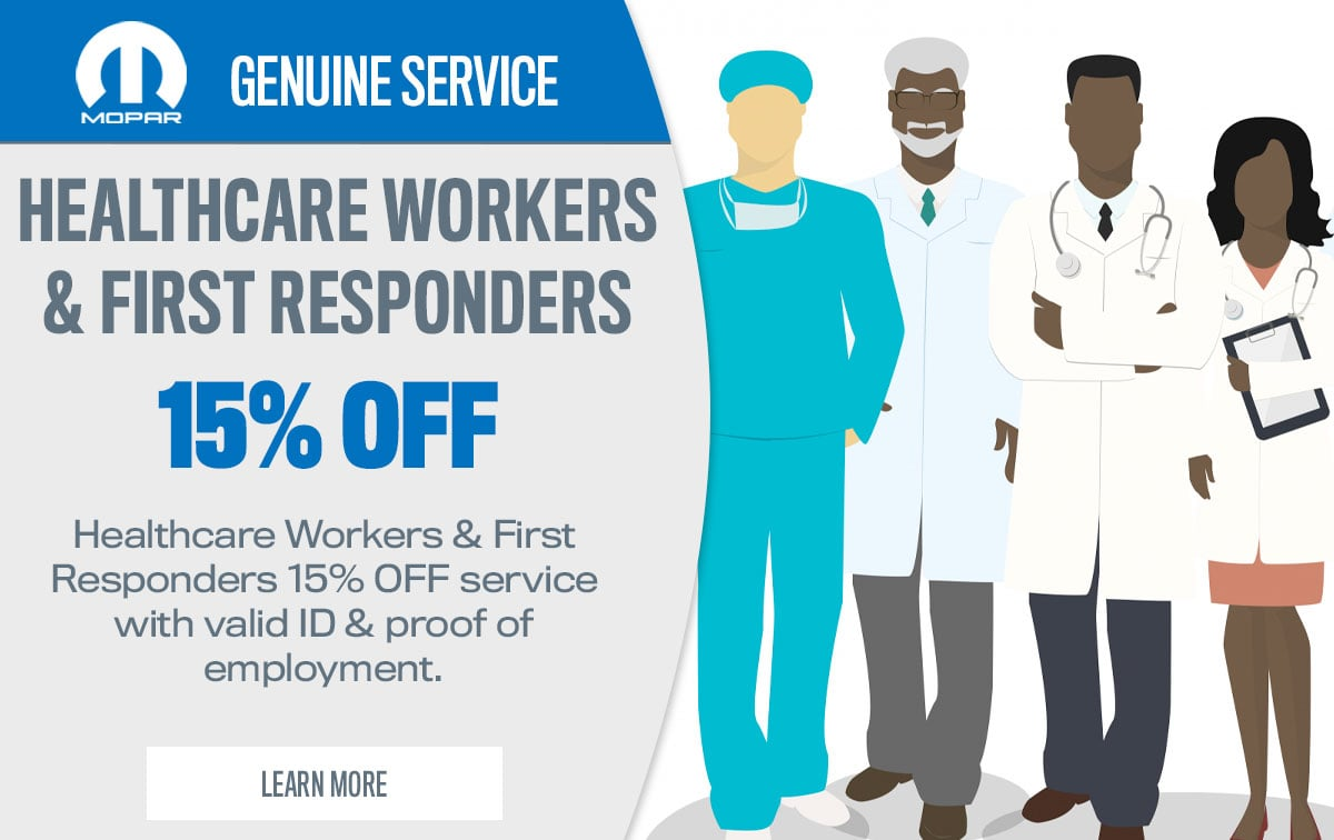 CDJR Healthcare Workers & First Responders Service Special Coupon