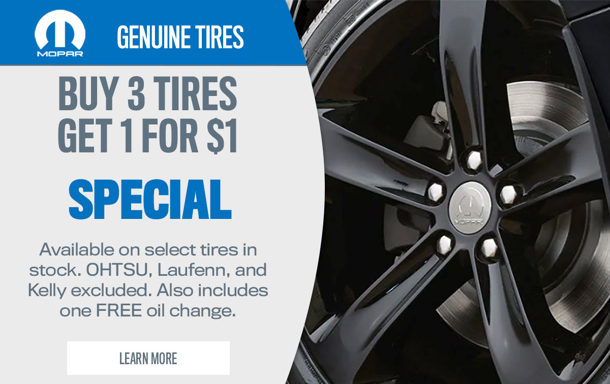 CDJR Tire Special Coupon