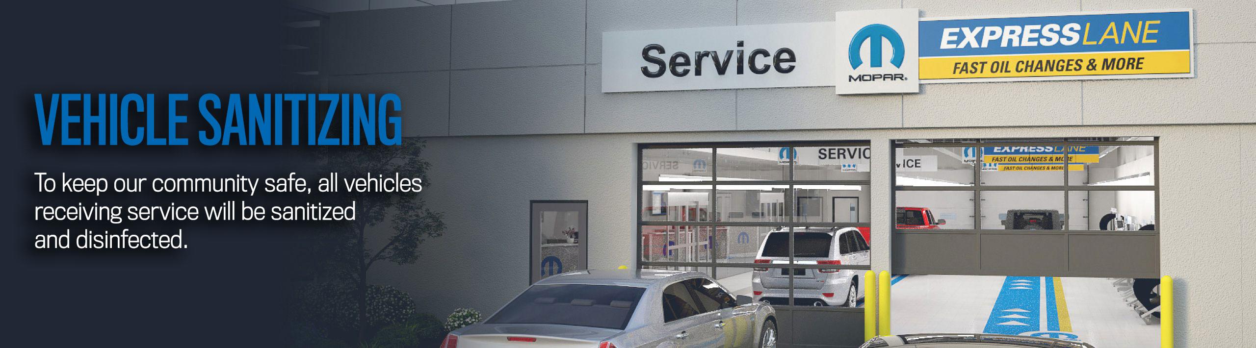 Vehicle Sanitizing