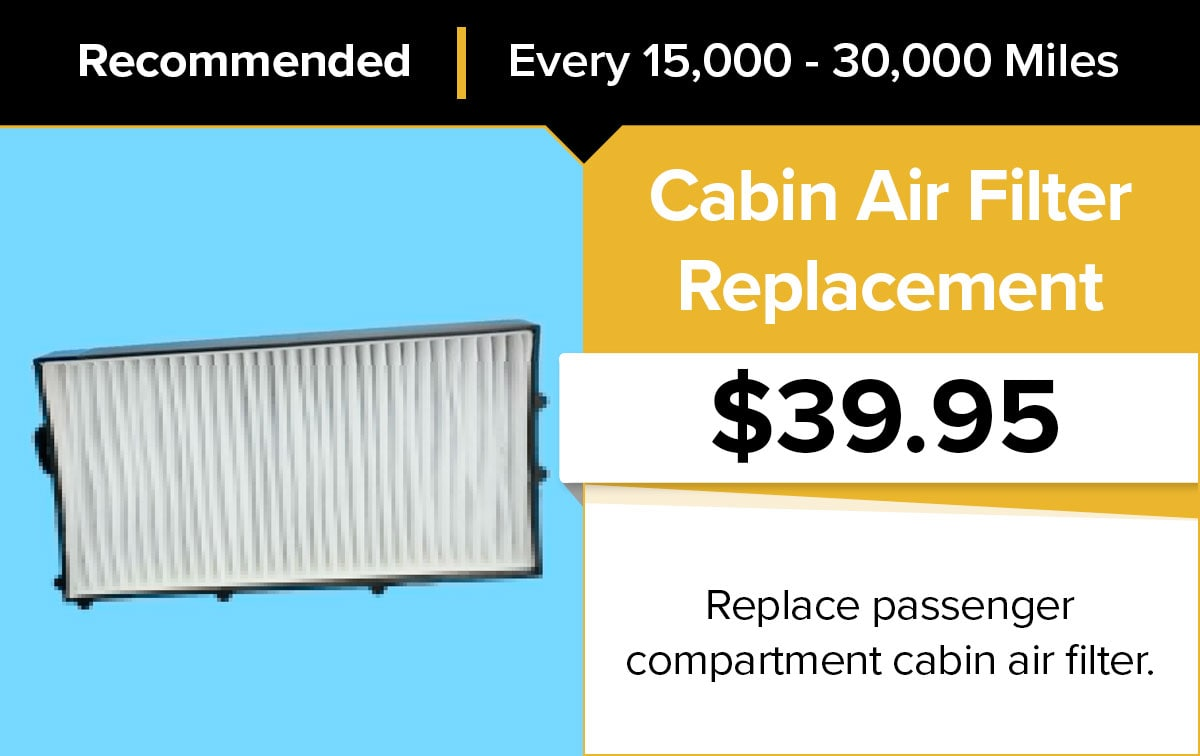 Mopar Cabin Air Filter Replacement Service Special Coupon