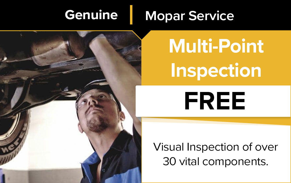 Mopar Multi-Point Inspection Service Special Coupon