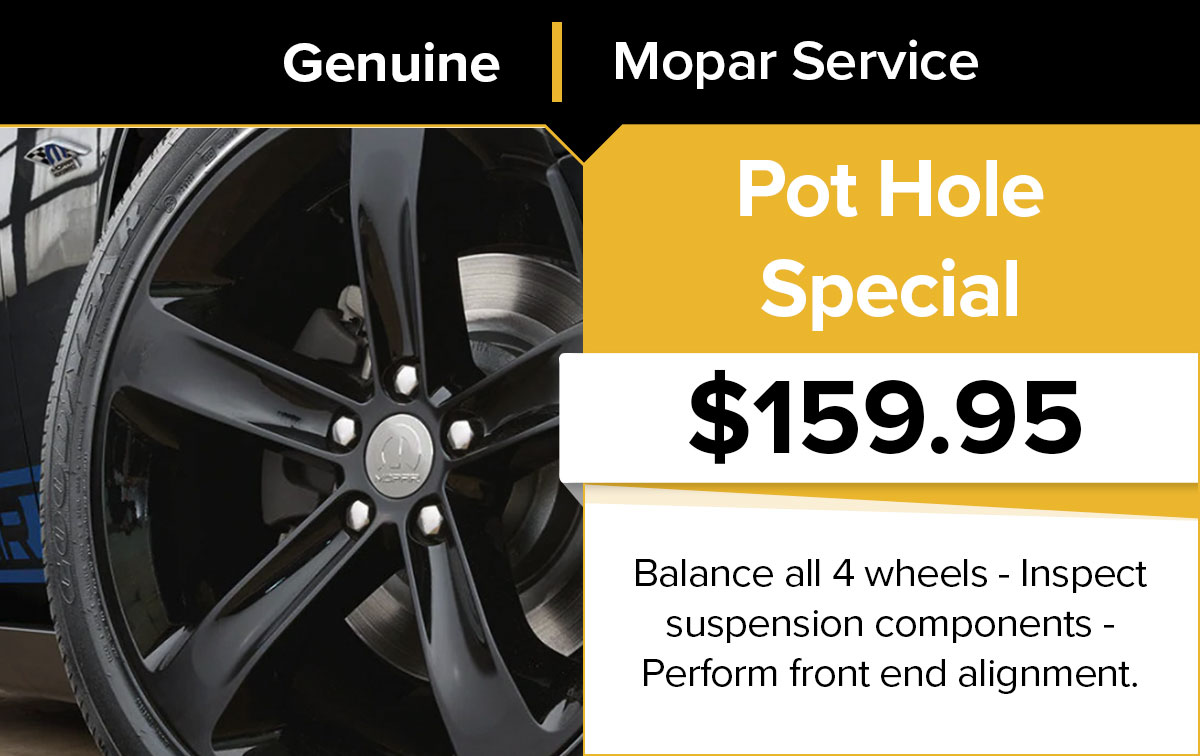 Mopar Pot Hole Service Special Coupon