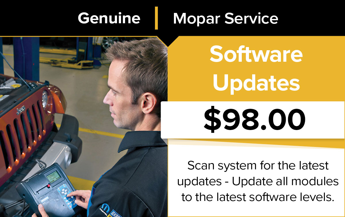 Mopar Software Updates Service Special Coupon