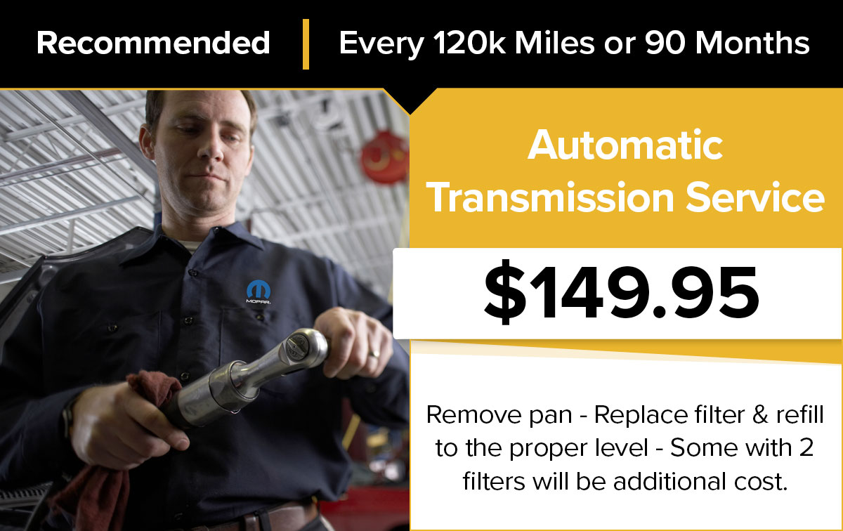 Mopar Automatic Transmission Service Special Coupon