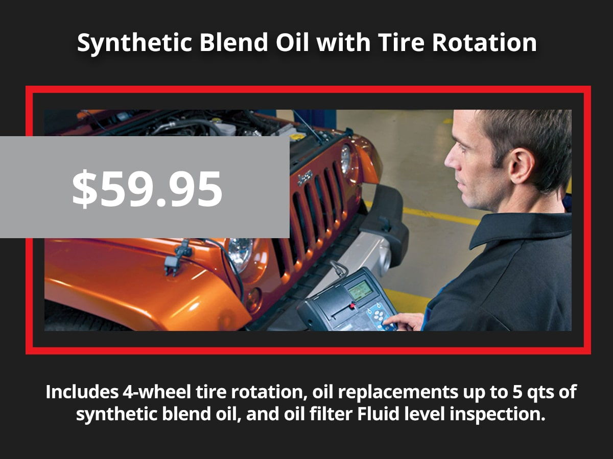 Synthetic Blend Oil Changes With Tire Rotation