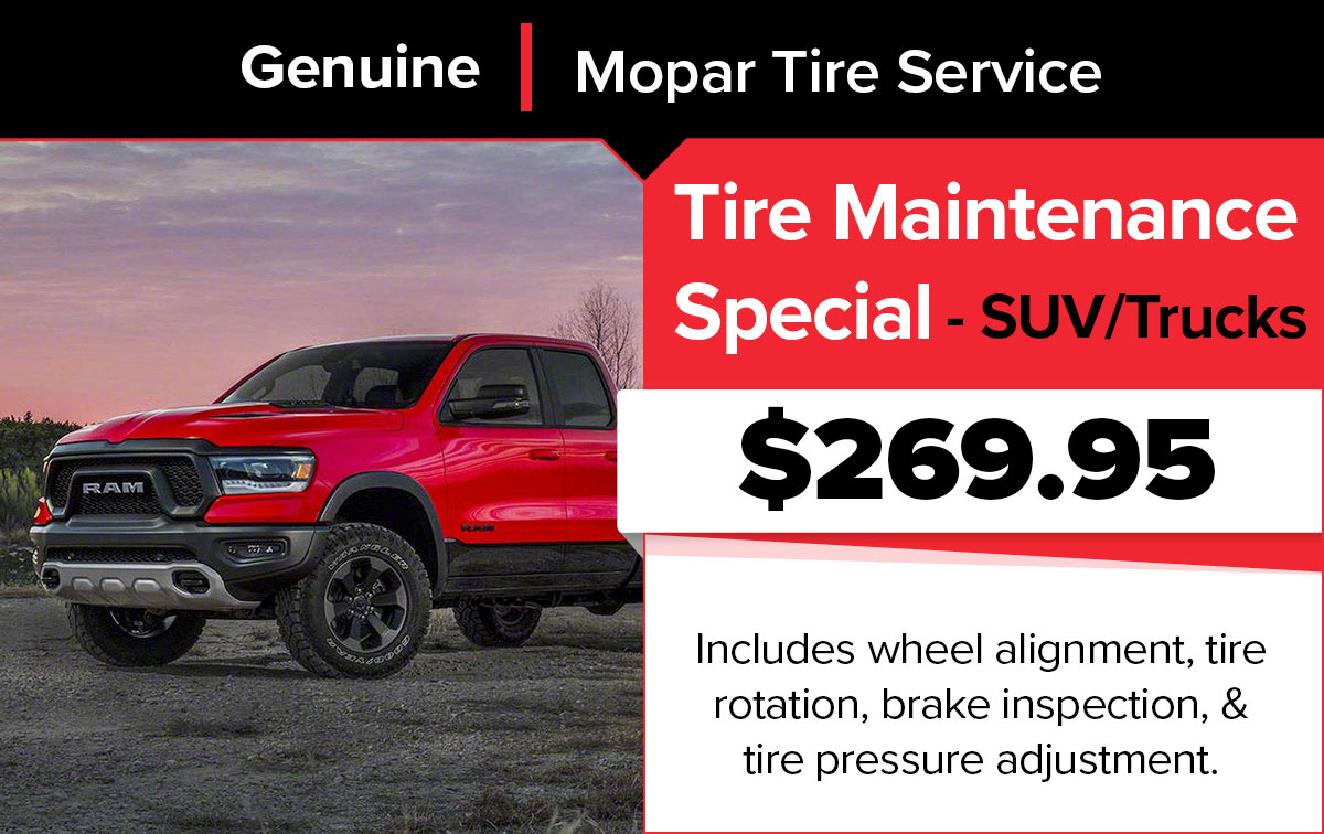 SUVs & Truck Tire Maintenance Special Coupon