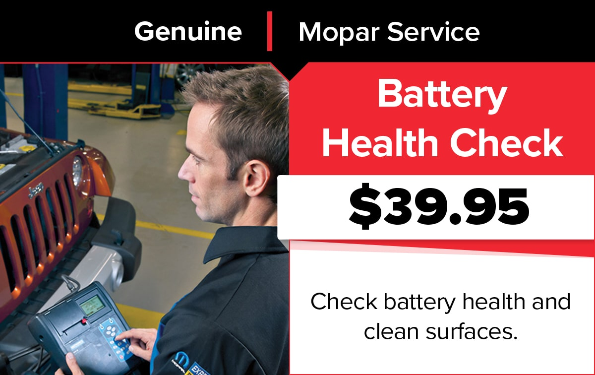 Mopar Battery Testing Service Special Coupon