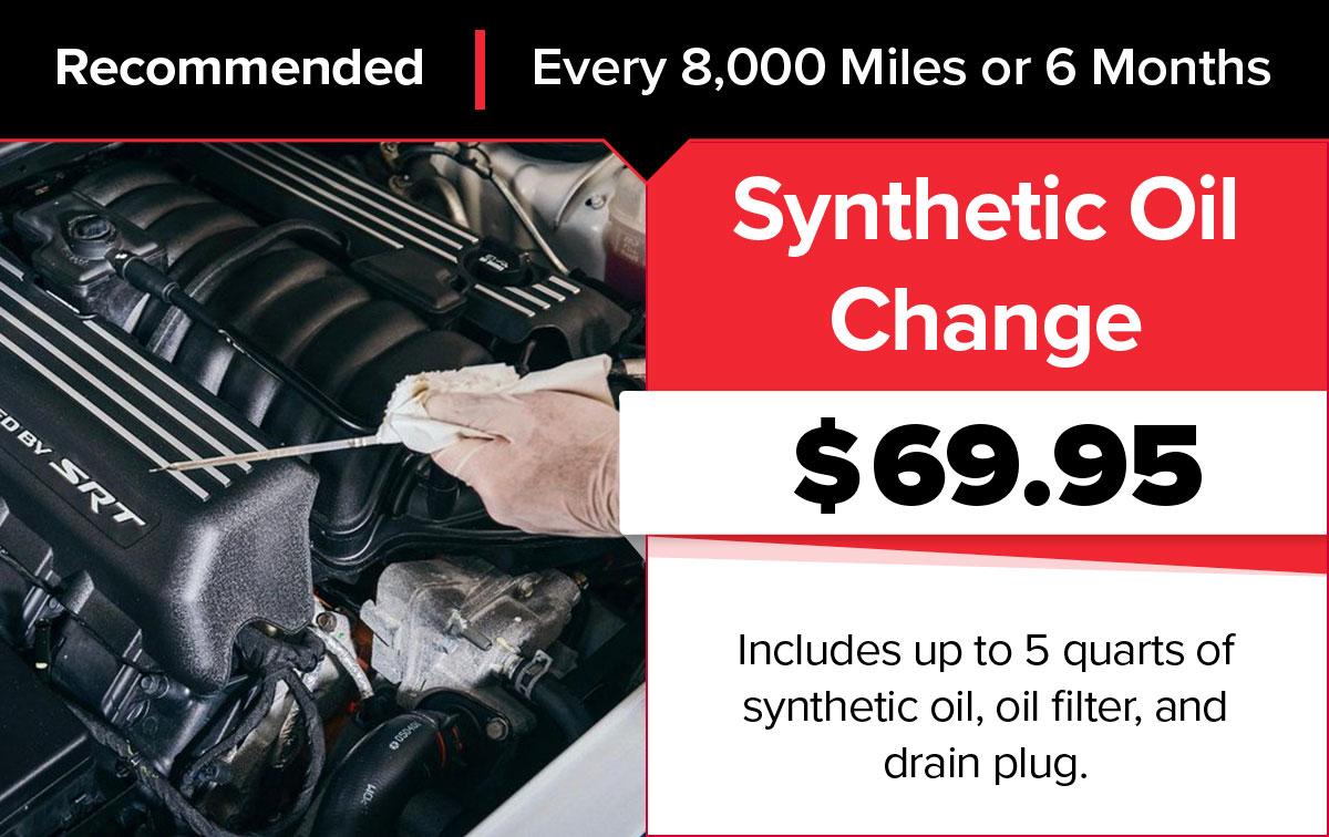 Mopar Semi-Synthetic Oil Change Service Special Coupon