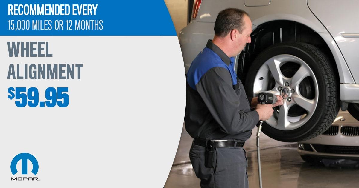 Mopar Wheel Alignment Service Special Coupon