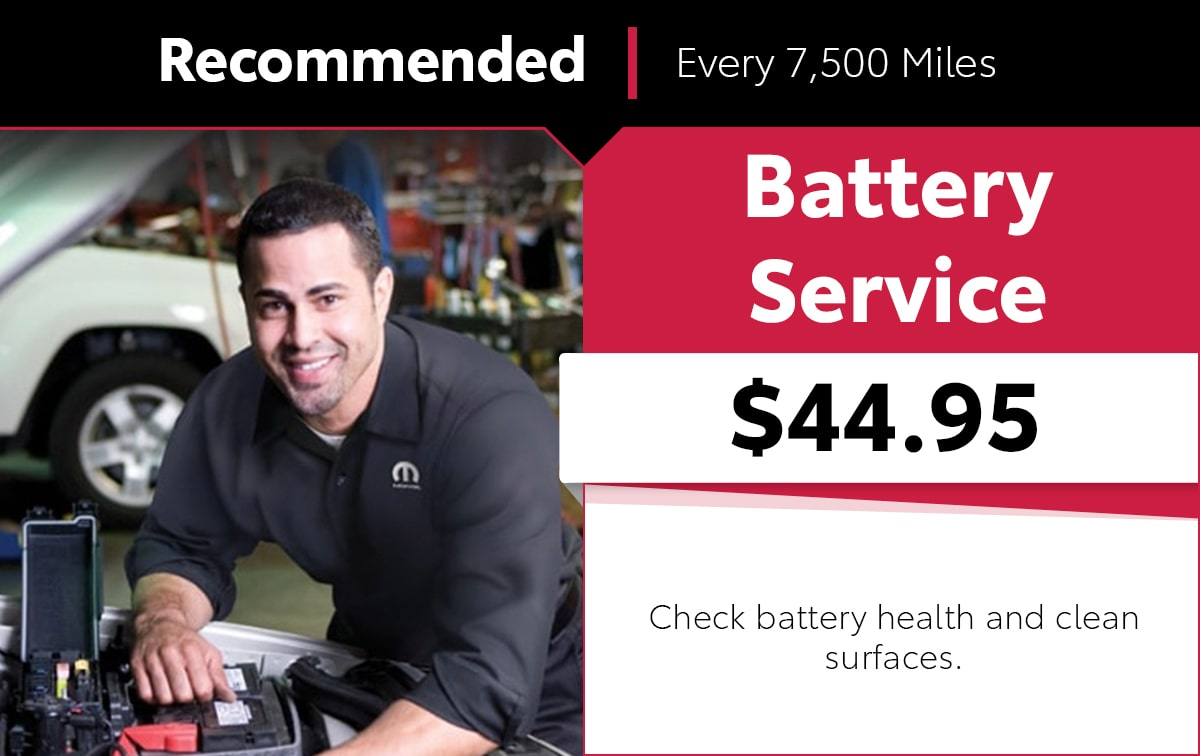 Mopar Battery Service Special Coupon