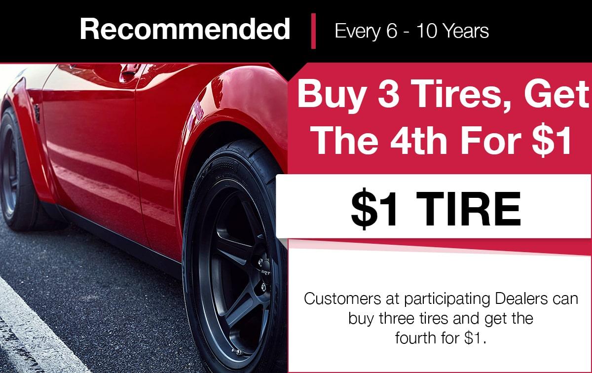 Mopar New Tire Service Special Coupon
