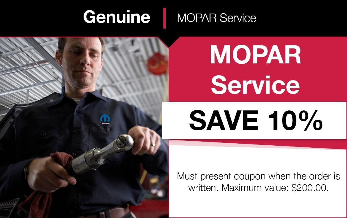 Mopar Service Special Coupon