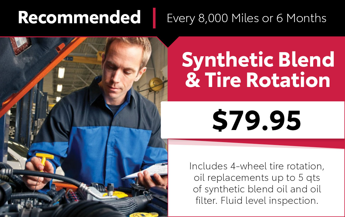 Mopar Synthetic Blend Tire Rotation Service Special Coupon