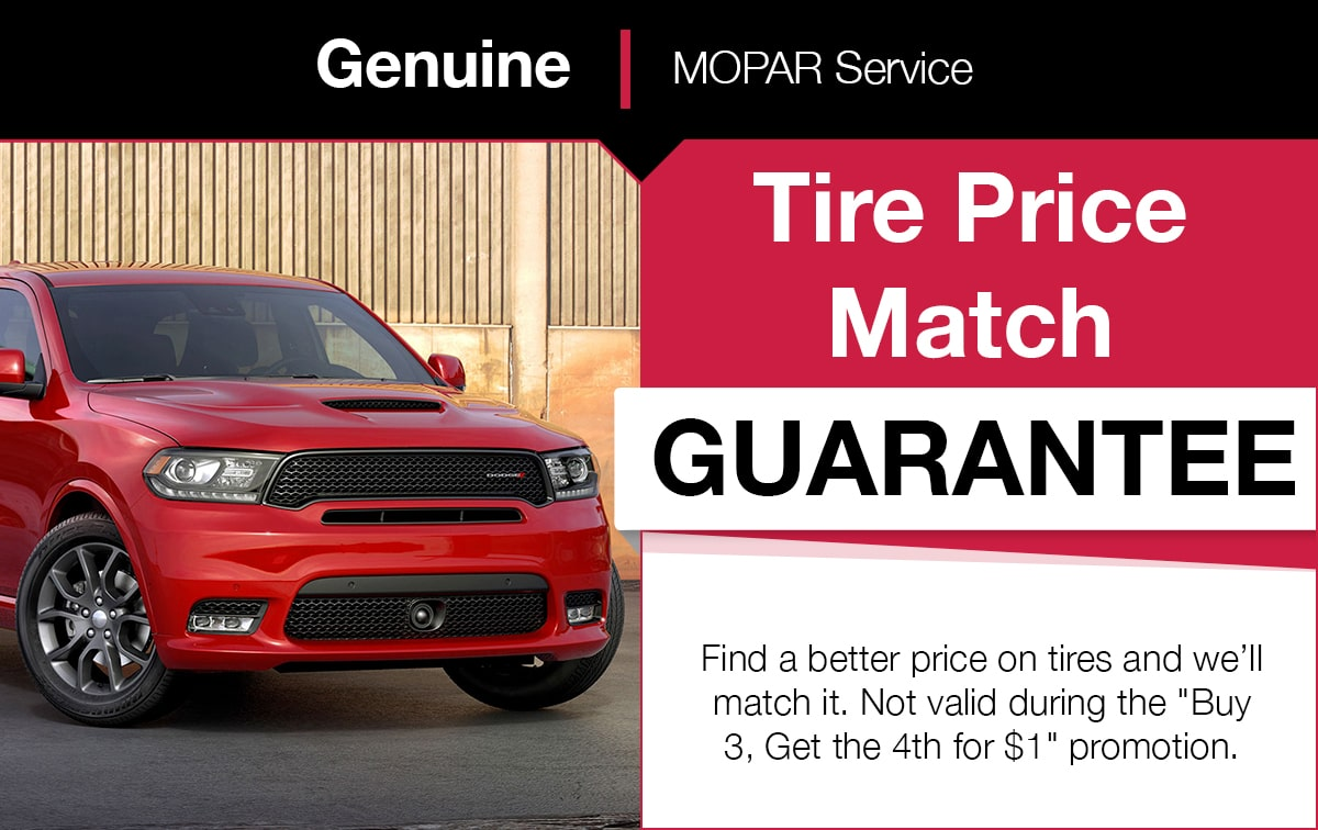 Mopar Tire Price Match Service Special Coupon