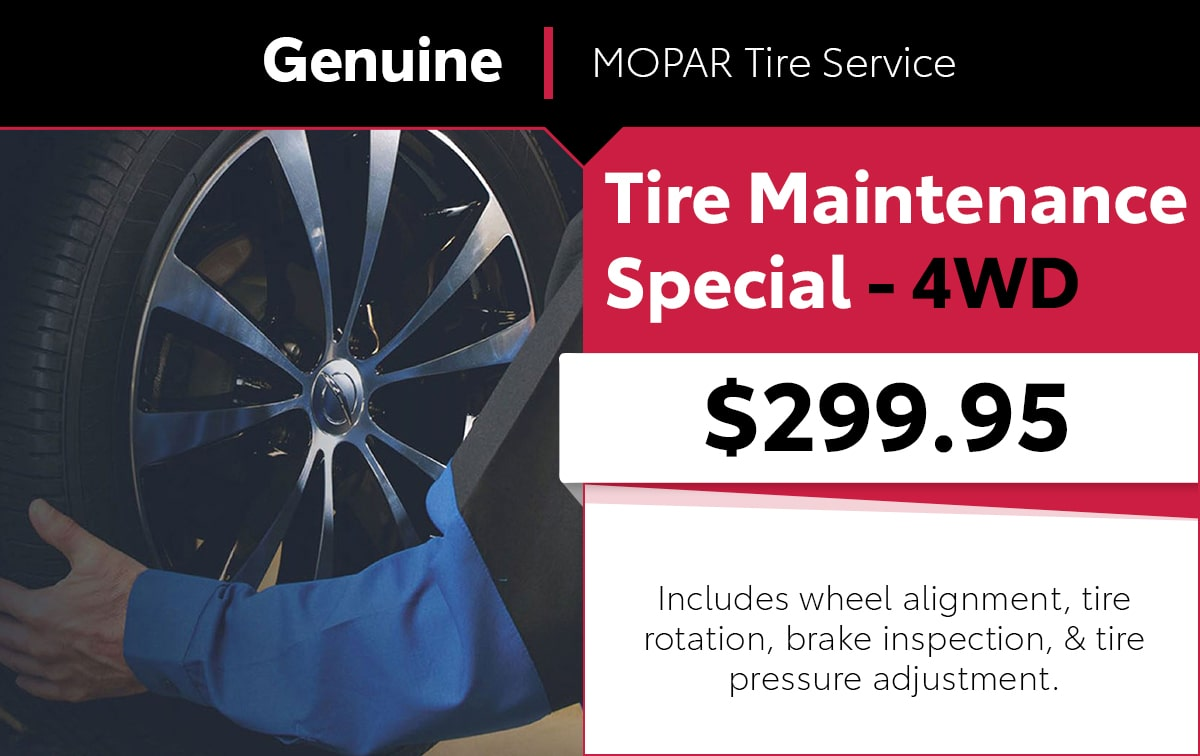 Mopar Tire Service Special Coupon