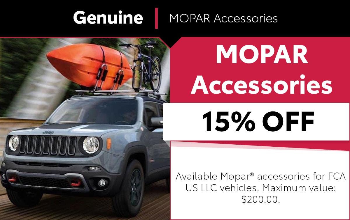 Mopar MOPAR Accessories Service Special Coupon