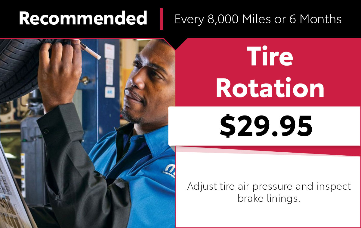 Mopar Tire Rotation Service Special Coupon
