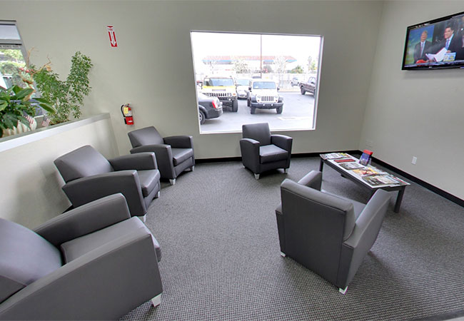 Monrovia CDJR Waiting Area
