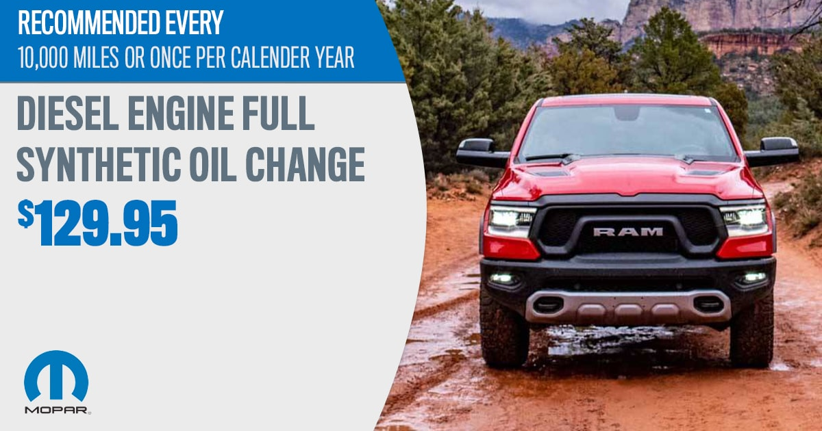 Diesel Full Synthetic Oil Change Service Special Coupon