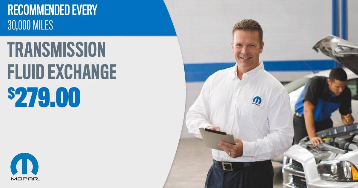 Transmission Fluid Exchange Service Special Coupon