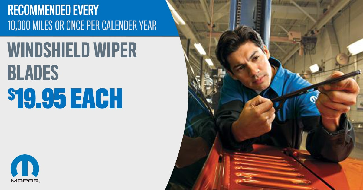 Windshield Wiper Replacement Service Special Coupon