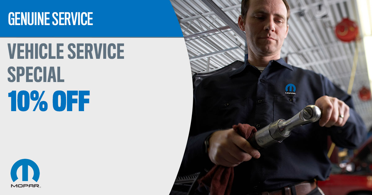 Mopar Vehicle Service Special Service Special Coupon