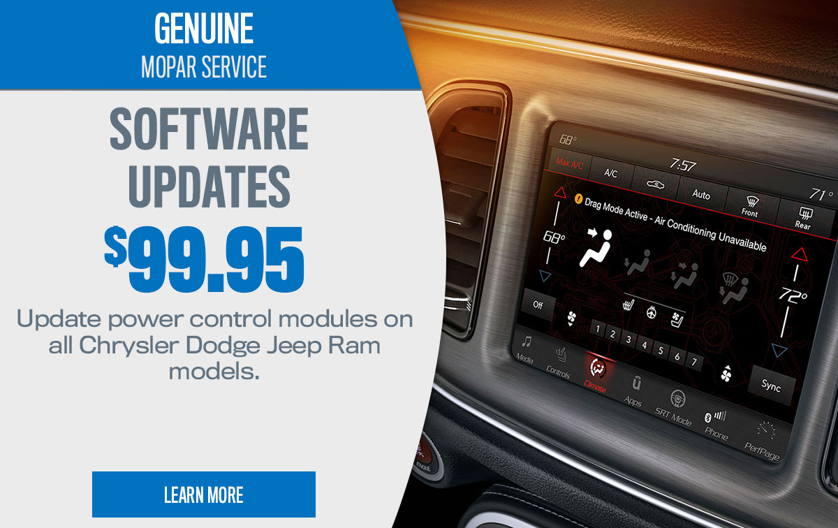 CDJR Software Updates Service Special Coupon