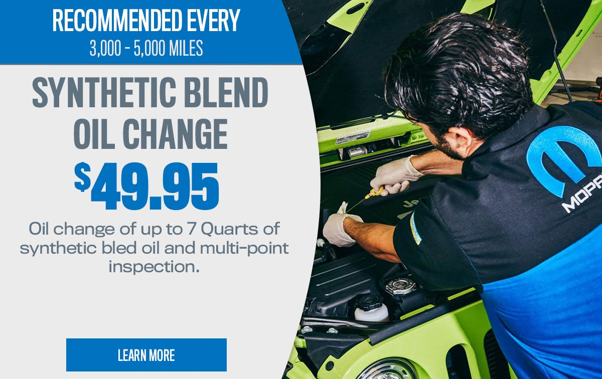 CDJR Synthetic Blend Oil Change Service Special Coupon