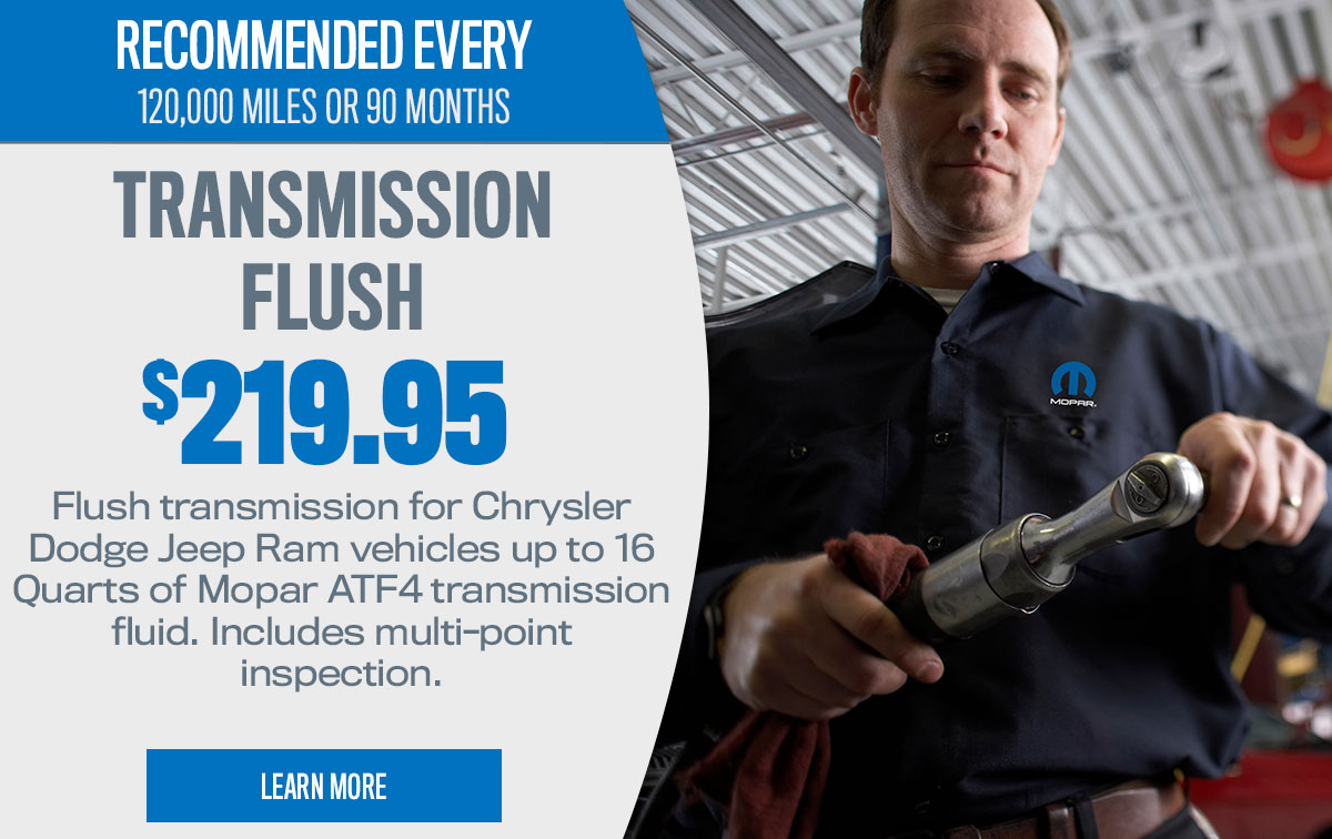 CDJR Transmission Flush Service Special Coupon