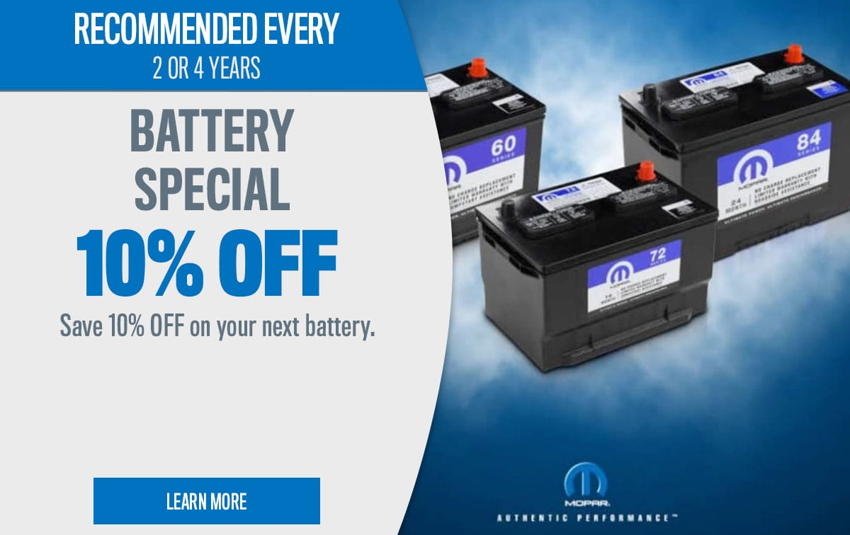 CDJR Battery Special Coupon