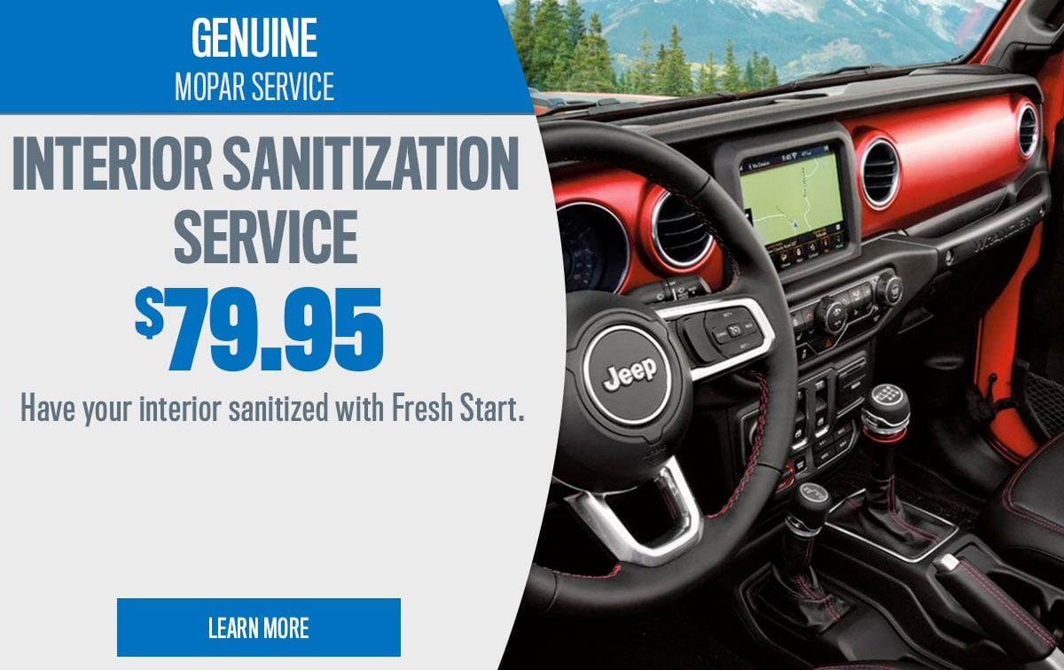 CDJR Interior Sanitization Service Special Coupon