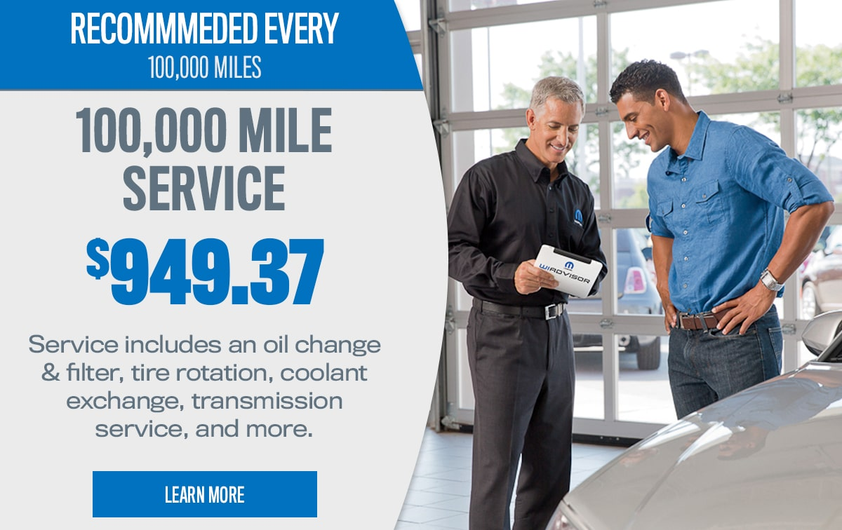 CDJR 100,000 Mile Service Special Coupon