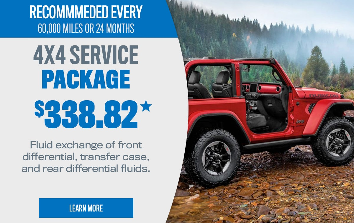CDJR 4x4 Service Package Special Coupon