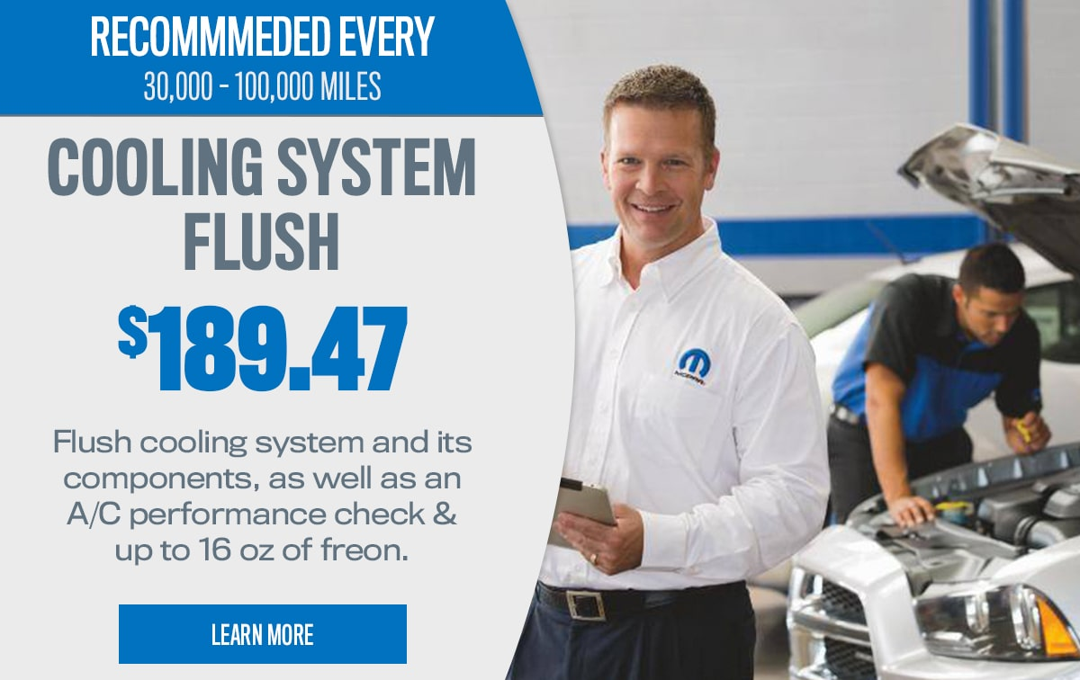 CDJR Cooling System Flush Service Special Coupon