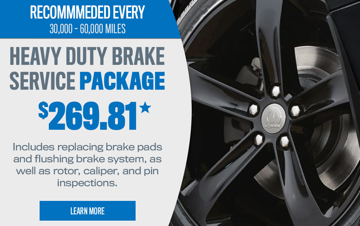 CDJR Heavy Duty Brake Service Package Special Coupon