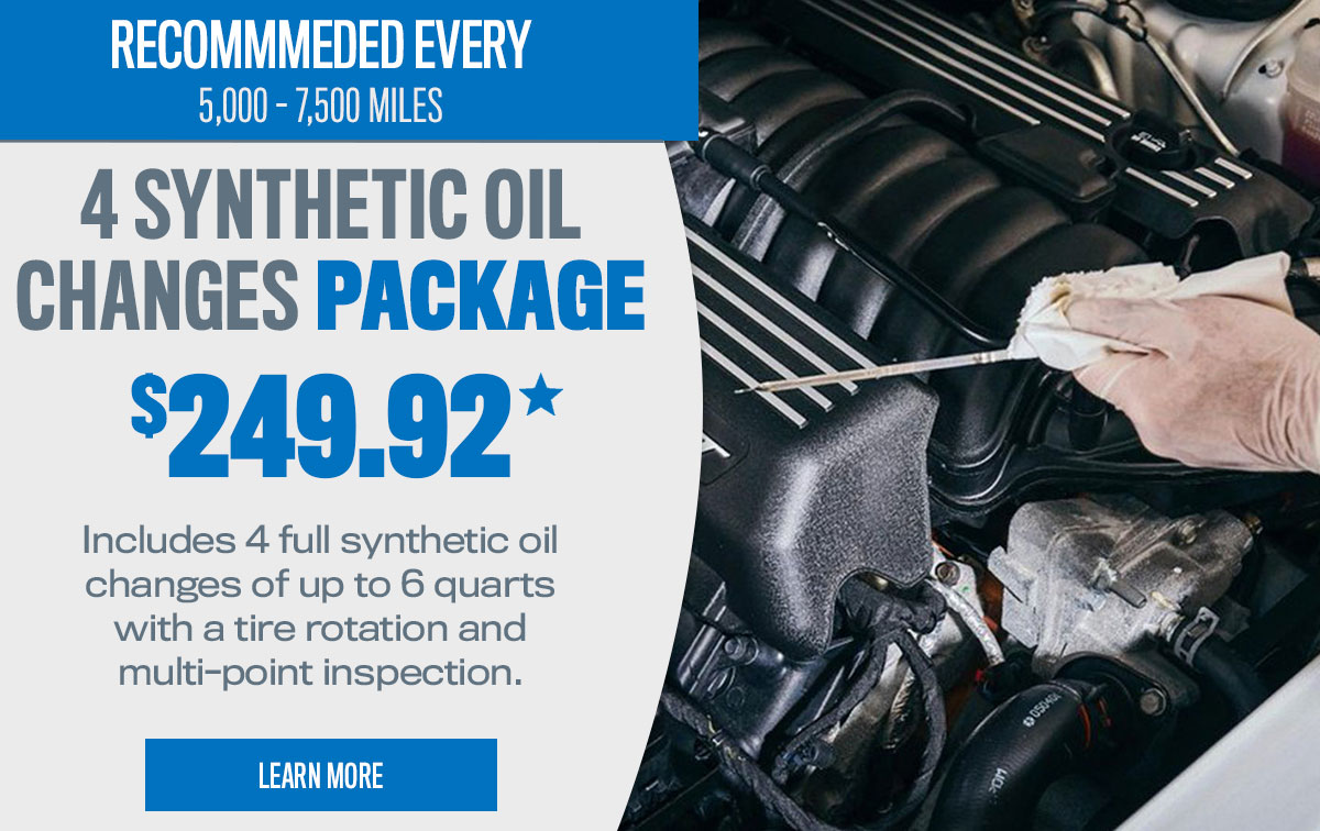 CDJR Synthetic Oil Change Package Service Special Coupon