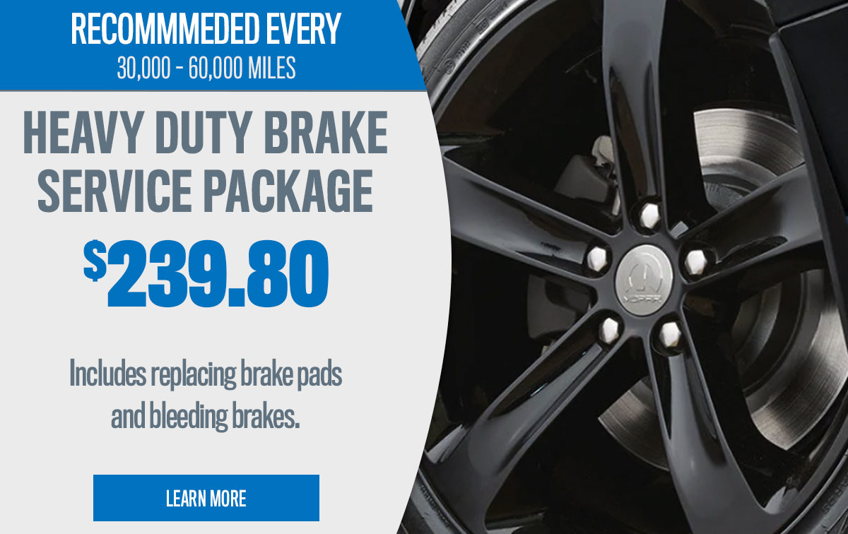 CDJR Heavy Duty Brake Service Special Coupon