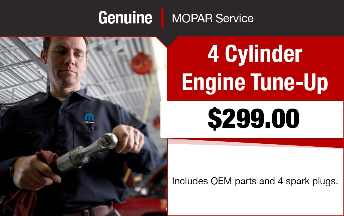 Chrysler Jeep Dodge Ram 4 Cylinder Engine Tune-Up Service Special Coupon