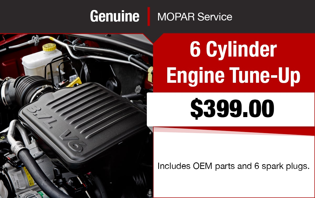 Chrysler Jeep Dodge Ram 6 Cylinder Engine Tune-Up Service Special Coupon