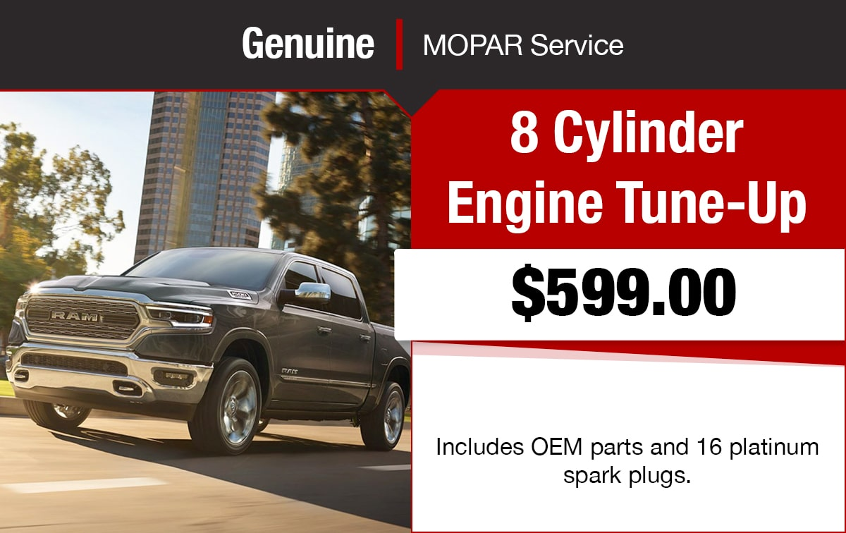 Chrysler Jeep Dodge Ram 8 Cylinder Engine Tune-Up Service Special Coupon