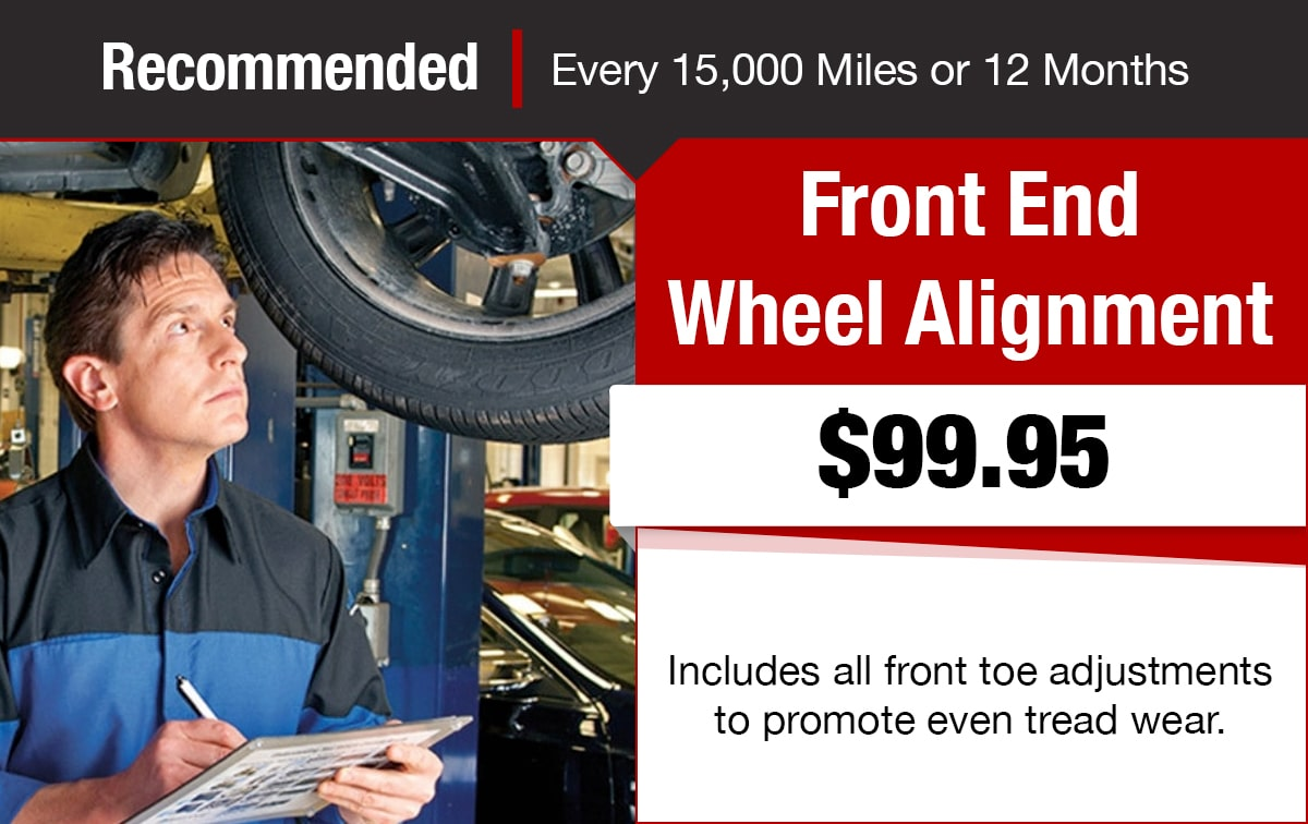 Chrysler Jeep Dodge Ram Front End Wheel Alignment Service Special Coupon