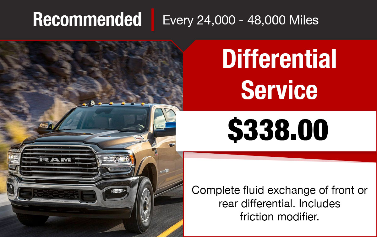 Chrysler Jeep Dodge Ram Differential Service Special Coupon