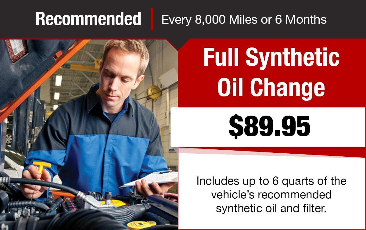 Chrysler Jeep Dodge Ram Full Synthetic Oil Change Service Special Coupon