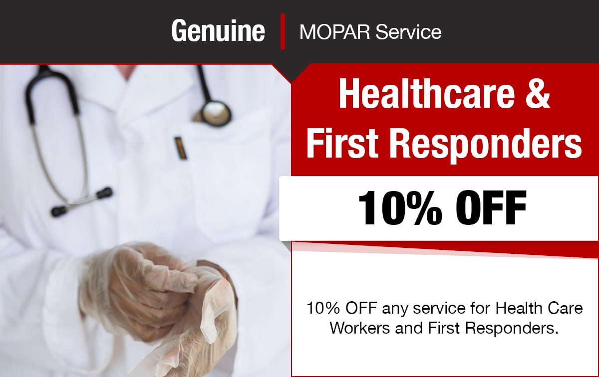 Chrysler Jeep Dodge Ram Healthcare Workers Service Special Coupon
