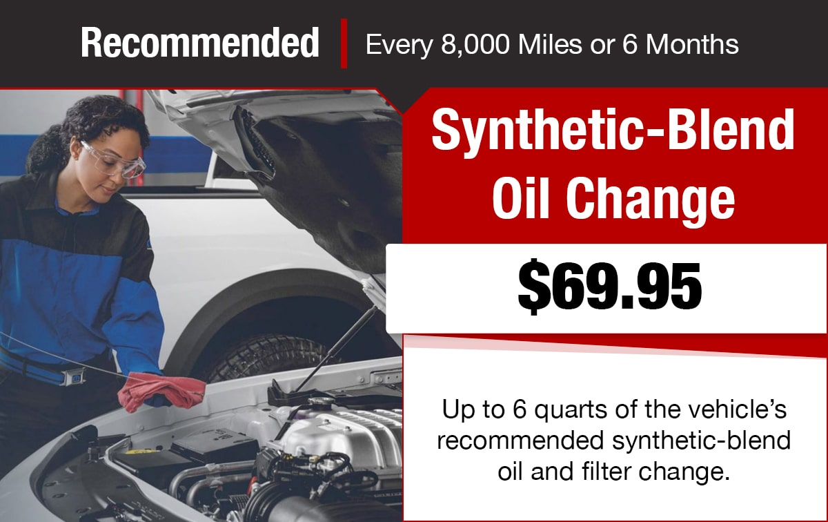 Chrysler Jeep Dodge Ram Synthetic-Blend Oil Change Service Special Coupon